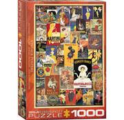 Eurographics Eurographics Vintage Variety Posters Puzzle 1000pcs