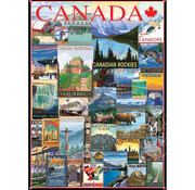 Eurographics Eurographics Travel Canada Vintage Posters Puzzle 1000pcs