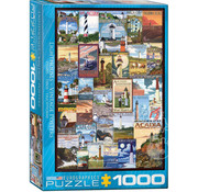 Eurographics Eurographics Lighthouses Vintage Posters Puzzle 1000pcs