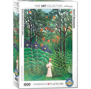 Eurographics Eurographics Woman Walking in an Exotic Forest Puzzle 1000 pcs