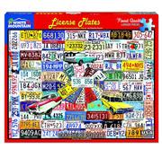 White Mountain White Mountain License Plates Puzzle 1000pcs