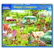 White Mountain White Mountain Happy Campers Puzzle 1000pcs