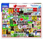 White Mountain White Mountain I Love Golf Puzzle 1000pcs