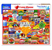 White Mountain White Mountain I Love Cheese Puzzle 1000pcs