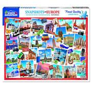 White Mountain White Mountain Snapshots of Europe Puzzle 1000pcs