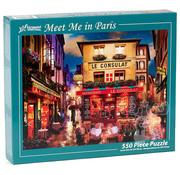 Vermont Christmas Company Vermont Christmas Co. Meet Me in Paris Puzzle 550pcs