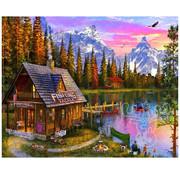 Vermont Christmas Company Vermont Christmas Co. The Fishing Hut Puzzle 1000pcs