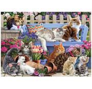 Vermont Christmas Company Vermont Christmas Co. A Cat's Life Puzzle 1000pcs