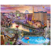 Vermont Christmas Company Vermont Christmas Co. Las Vegas Twilight Puzzle 1000pcs