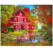 Vermont Christmas Company Vermont Christmas Co. Autumn at the Old Barn Puzzle 1000pcs