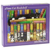 Vermont Christmas Company Vermont Christmas Co. Cat Bookshelf Puzzle 1000pcs