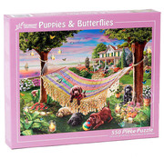 Vermont Christmas Company Vermont Christmas Co. Puppies & Butterflies Puzzle 550pcs