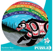 Canadian Art Prints Indigenous Collection: Rainbow Bear Round Puzzle 500pcs
