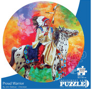 Canadian Art Prints Indigenous Collection: Proud Warrior Round Puzzle 500pcs