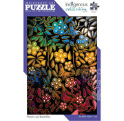 Canadian Art Prints Indigenous Collection: Flowers and Butterflies Puzzle 1000pcs