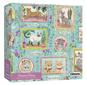 Gibsons Gibsons Famous Felines Puzzle 1000pcs