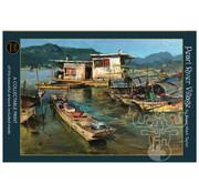 Art & Fable Puzzle Company Art & Fable Pearl River Village Puzzle 500pcs
