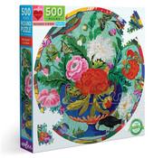 eeBoo eeBoo Bouquet & Birds Round Puzzle 500pcs