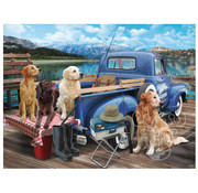 Vermont Christmas Company Vermont Christmas Co. Dogs Gone Fishing Puzzle 550pcs