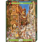 Heye Heye Romantic Town: By Day Puzzle 1000pcs