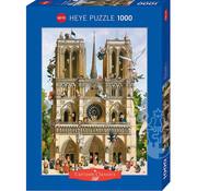 Heye Heye Cartoon Classics Vive Notre Dame! Puzzle 1000pcs