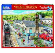 White Mountain White Mountain Village Station Puzzle 1000pcs