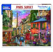 White Mountain White Mountain Paris Sunset Puzzle 1000pcs