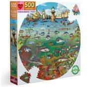 eeBoo eeBoo Fish & Boats Round Puzzle 500pcs