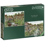 Falcon Falcon Village Life Puzzle 2 x 1000pcs