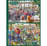 Falcon Falcon The Motorcycle Show Puzzle 2 x 500pcs