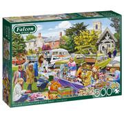 Falcon Falcon Village Church Car Boot Sale Puzzle 500pcs