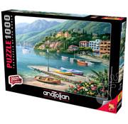Anatolian Anatolian Hillside Harbor Cove Puzzle 1000pcs