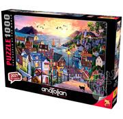 Anatolian Anatolian Coastal Town At Sunset Puzzle 1000pcs