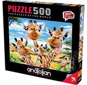 Anatolian Anatolian Giraffe Selfie Puzzle 500pcs