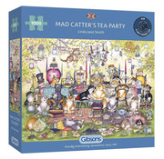 Gibsons Gibsons Mad Catter's Tea Party Puzzle 1000pcs