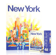 New York Puzzle Company New York Puzzle Co. American Airlines: NYC Skyline Mini Puzzle 100pcs