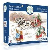 New York Puzzle Company New York Puzzle Co. Peter Rabbit: Peter Rabbit and Santa Puzzle 1000pcs