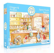 New York Puzzle Company New York Puzzle Co. Peter Rabbit: Ginger & Pickles Puzzle 1000pcs