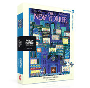 New York Puzzle Company New York Puzzle Co. The New Yorker: City Advent Calendar Puzzle 1000pcs