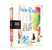 New York Puzzle Company New York Puzzle Co. The New Yorker: Cat's Eye View Puzzle 1000pcs
