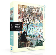 New York Puzzle Company New York Puzzle Co. The New Yorker: Skating in the Park Puzzle 750pcs