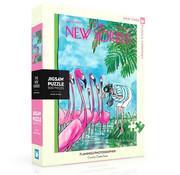 New York Puzzle Company New York Puzzle Co. The New Yorker: Flamingo Photographer Puzzle 500pcs