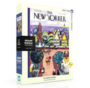 New York Puzzle Company New York Puzzle Co. The New Yorker: Village by the Sea Puzzle 1000pcs