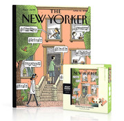 New York Puzzle Company New York Puzzle Co. The New Yorker: Soundtrack to Spring Mini Puzzle 100pcs