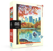 New York Puzzle Company New York Puzzle Co. The New Yorker: Central Park Row Puzzle 500pcs