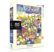 New York Puzzle Company New York Puzzle Co. The New Yorker: Flower Garden Puzzle 1000pcs