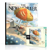 New York Puzzle Company New York Puzzle Co. The New Yorker: Dog Days of Summer Mini Puzzle 100pcs