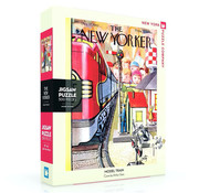 New York Puzzle Company New York Puzzle Co. The New Yorker: Model Train Puzzle 500pcs