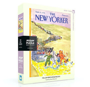 New York Puzzle Company New York Puzzle Co. The New Yorker: Yellow Brick Road Block Puzzle 500pcs