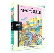 New York Puzzle Company New York Puzzle Co. The New Yorker: J.F.K. International Rocketport Puzzle 1000pcs